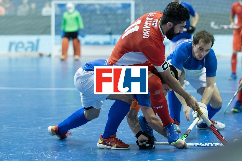 Hockey, Seizoen 2017-2018, 09-02-2018, Berlijn,  Max-Schmelling Halle, WK Zaalhockey 2018 MEN, Iran - Czech Republic 2-2 Iran Wins after shoutouts, Behdad Beiranvand.