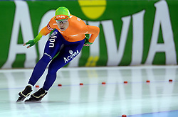 09-03-2013 SCHAATSEN: FINAL ISU WORLD CUP: HEERENVEEN<br /> NED, Speedskating Final World Cup Thialf Heerenveen / Diane Valkenburg en Activia boarding<br /> ©2013-FotoHoogendoorn.nl