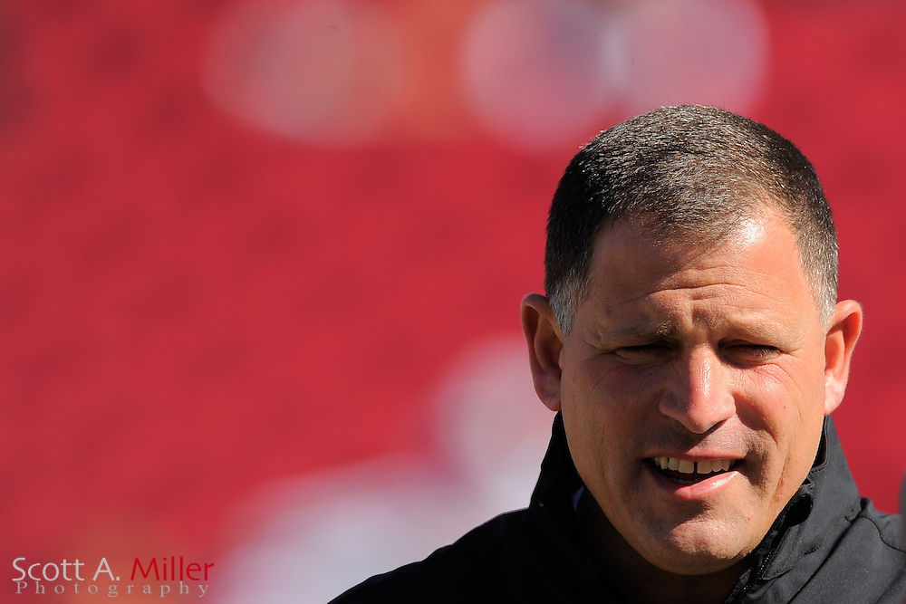 Tampa Bay Buccaneers head coach Greg Schiano prior to the Bucs game against the Atlanta Falcons at Raymond James on November 25, 2012 in Tampa, Florida. ...©2012 Scott A. Miller.