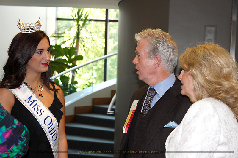 (from left) Miss Ohio 2012 Elissa McCracken, Steve Geib and Sandie Geib of Agape for Youth during the Better Business Bureau's Eclipse Integrity Awards dinner at Sinclair Community College's Ponitz Center in downtown Dayton, Tuesday, May 14 2013.