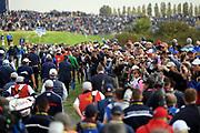 Illustration crowd during the friday morning fourballs session of Ryder Cup 2018, at Golf National in Saint-Quentin-en-Yvelines, France, September 28, 2018 - Photo Philippe Millereau / KMSP / ProSportsImages / DPPI
