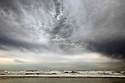 WA13282-00...WASHINGTON - Clouds over Kalaloch Beach on the Pacific Coast in Olympic National Park.