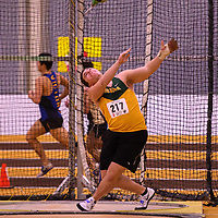 Isaac Baker-Smith in action during the 2018 Canada West Track & Field Championship on February  23 at James Daly Fieldhouse. Credit: Arthur Ward/Arthur Images