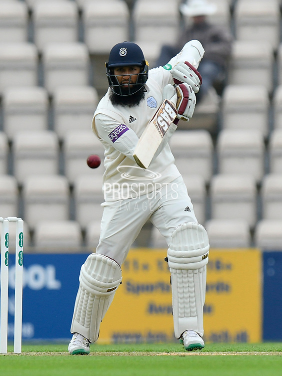 Hashim Amla of Hampshire batting during the Specsavers County Champ Div 1 match between Hampshire County Cricket Club and Worcestershire County Cricket Club at the Ageas Bowl, Southampton, United Kingdom on 13 April 2018. Picture by Graham Hunt.