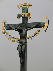 Crucifix with Jesus Christ, Prague, Bohemia, Czech Republic