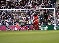 Photo: Mark Stephenson/Richard Lane Photography. <br /> West Bromwich Albion v Watford. Coca-Cola Championship. 12/04/2008. West Brom's Leon Barnett (L) scores for 1-1