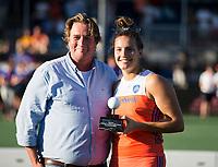 BREDA - Frederique Matla (Ned), topscorer   van het toernooi, na  de finale  Nederland-Japan (8-2) van de 4 Nations Trophy dames 2018 . COPYRIGHT KOEN SUYK