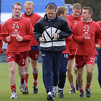 St Johnstone FC training....20.04.01<br />Coach Billy Kirkwood leads the St Johnstone players in training<br /><br />see words by Gordon Bannerman Tel: 01738 553978<br /><br />Pic by Graeme Hart<br />Copyright Perthshire Picture Agency<br />Tel: 01738 623350 / 07990 594331