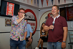 LOS ANGELES, USA - Tuesday, July 26, 2016: Neil Atkinson and John Gibbons during an Anfield Wrap live podcast on day six of Liverpool FC's USA Pre-season Tour. (Pic by David Rawcliffe/Propaganda)