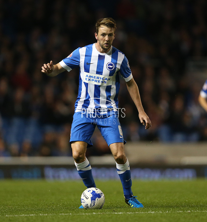 Brighton central midfielder, Dale Stephens (6) during the Sky Bet Championship match between Brighton and Hove Albion and Bristol City at the American Express Community Stadium, Brighton and Hove, England on 20 October 2015.