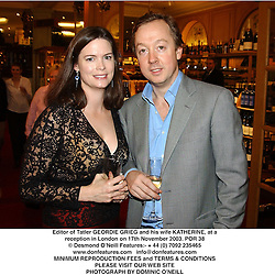 Editor of Tatler GEORDIE GRIEG and his wife KATHERINE, at a reception in London on 17th November 2003.POR 38