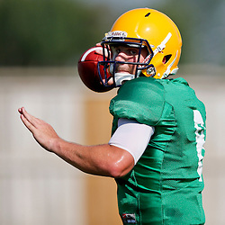 Aug 8, 2013; Baton Rouge, LA, USA; LSU Tigers quarterback Zach Mettenberger (8) during a fall practice at the McClendon Practice Facility. Mandatory Credit: Derick E. Hingle-USA TODAY Sports