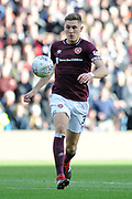 James Dunne on the ball during the Betfred Semi-Final Cup match between Heart of Midlothian and Celtic at Murrayfield, Edinburgh, Scotland on 28 October 2018.