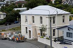 Christchurch-Demolition begins on earthquake damaged Lyttelton Police Station