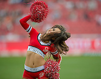 EMIRATES AIRLINE PARK, SOUTH AFRICA - APRIL 25: Lions dancing girls in action during the Vodacom Super Rugby match between the Emirates Lions and the Toyota Cheetahs played at Emirates Airline Park, Johannesburg, South Africa. (Photo by Anton Geyser/ Rugby 15/SASPA)