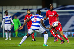 Tammy Abraham of Bristol City is challenged by Nedum Onuoha of Queens Park Rangers  - Rogan Thomson/JMP - 18/10/2016 - FOOTBALL - Loftus Road Stadium - London, England - Queens Park Rangers v Bristol City - Sky Bet EFL Championship.
