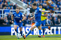 Johnny Sexton of Leinster Rugby kicks a penalty - Mandatory by-line: Robbie Stephenson/JMP - 11/05/2019 - RUGBY - St James' Park - Newcastle, England - Leinster Rugby v Saracens - Heineken Champions Cup Final