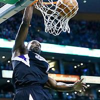 30 January 2013: Sacramento Kings point guard Tyreke Evans (13) dunks the ball during the Boston Celtics 99-81 victory over the Sacramento Kings at the TD Garden, Boston, Massachusetts, USA.