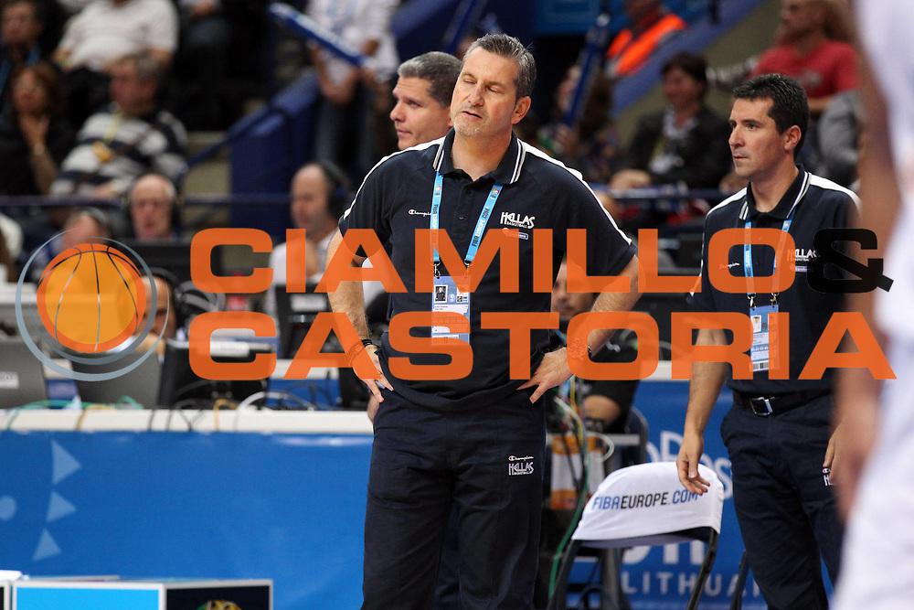 DESCRIZIONE : Vilnius Lithuania Lituania Eurobasket Men 2011 Second Round Grecia Russia Greece Russia<br /> GIOCATORE : Ilias Zouros<br /> SQUADRA : Grecia Greece<br /> EVENTO : Eurobasket Men 2011<br /> GARA : Grecia Russia Greece Russia<br /> DATA : 10/09/2011<br /> CATEGORIA : ritratto delusione<br /> SPORT : Pallacanestro <br /> AUTORE : Agenzia Ciamillo-Castoria/ElioCastoria<br /> Galleria : Eurobasket Men 2011<br /> Fotonotizia : Vilnius Lithuania Lituania Eurobasket Men 2011 Second Round Grecia Russia Greece Russia<br /> Predefinita :