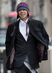 © Licensed to London News Pictures. 29/11/2017. London, UK. Lauri Love arrives at the High Court. Mr Love is appealing extradition to the US over alleged cyber-hacking. Photo credit: Peter Macdiarmid/LNP