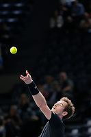 Andy MURRAY (GBR) during the ATP World Tour Masters 1000 indoor tennis tournament, BNP Paribas Masters in Bercy (AccorHotels Arena),  Paris, France, on October 31 to November 8, 2015. Photo Stephane Allaman / DPPI