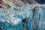Detail of the Dawes Glacier in Southeast Alaska.
