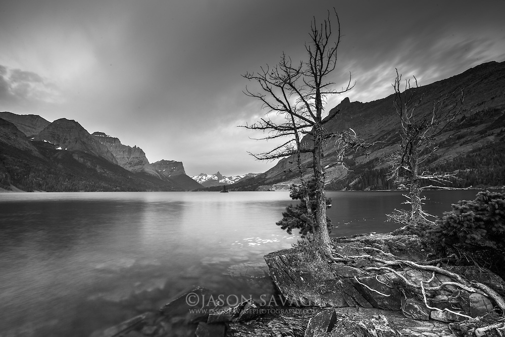 St Mary Lake, Glacier National Park, Montana.
