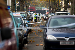 Foresnic officers at work on a crime scene in Southend.