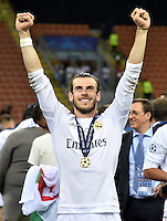FUSSBALL  CHAMPIONS LEAGUE  FINALE  SAISON 2015/2016   Real Madrid - Atletico Madrid                   28.05.2016 Gareth Bale (Real Madrid) jubelt