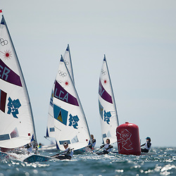 2012 Olympic Games London / Weymouth<br /> Racing day 1 Laser<br /> Laser RadialPERSchmidt Paloma