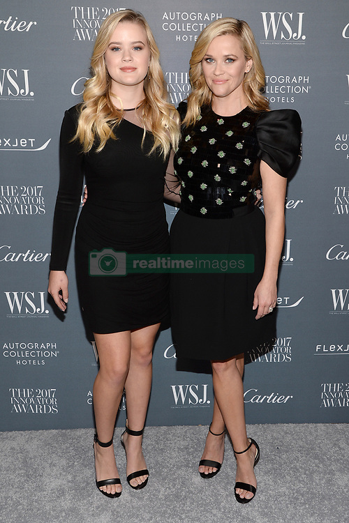 (L-R) Ava Phillippe and Reese Witherspoon attend the WSJ. Magazine 2017 Innovator Awards at MOMA in New York, NY, on November 1, 2017. (Photo by Anthony Behar/Sipa USA)