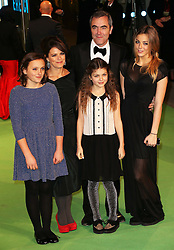 James Nesbitt and his family arriving at the 65th Royal Film Performance for the premiere of The Hobbit, in London, Wednesday, 12th December 2012.  Photo by: Stephen Lock / i-Images