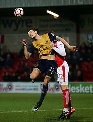 Milan Djjuric of Bristol City challenges Cian Bolger of Fleetwood Town - Mandatory by-line: Matt McNulty/JMP - 17/01/2017 - FOOTBALL - Highbury Stadium - Fleetwood,  - Fleetwood Town v Bristol City - Emirates FA Cup Third Round Replay