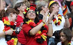 09.07.2011, Arena im Allerpark Wolfsburg , Wolfsburg ,  GER, FIFA Women Worldcup 2011, Viertelfinale ,   Germany (GER) vs Japan (JPN)  im Bild   .deutsche Fans .//  during the FIFA Women Worldcup 2011, Quarterfinal, Germany vs Japan  on 2011/07/09, Arena im Allerpark , Wolfsburg, Germany.  .EXPA Pictures © 2011, PhotoCredit: EXPA/ nph/  Hessland       ****** out of GER / CRO  / BEL ******