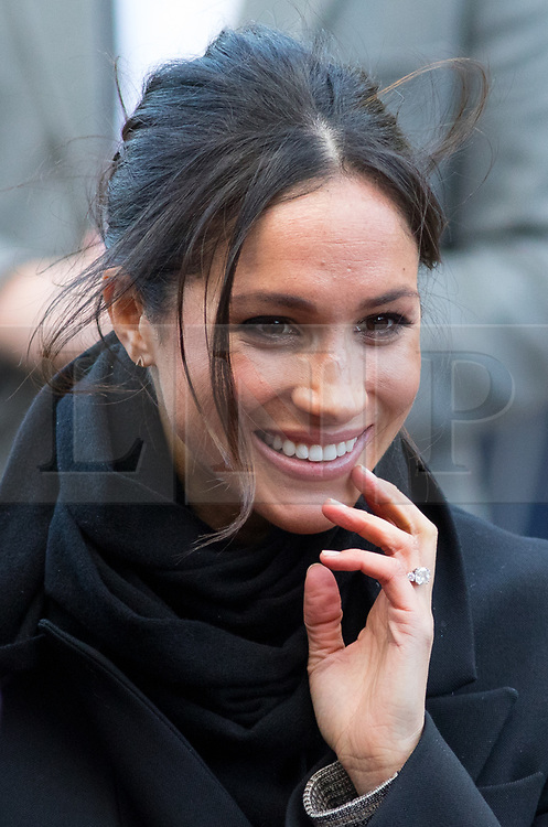© Licensed to London News Pictures. 18/01/2018. Cardiff, UK. Meghan Markle and Prince Harry (not pictured) arrive at Cardiff Castle, to visit the Wales Culture Fair. Photo credit : Tom Nicholson/LNP