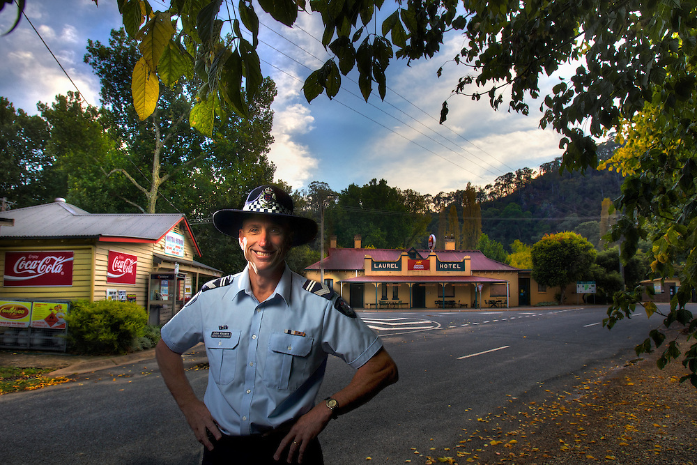 Mitta Mitta, one policeman town. Following the working life of Leading Senior Constable John Kissane. Pic By Craig Sillitoe CSZ/The Sunday Age.27/03/2012  Pic By Craig Sillitoe CSZ / The Sunday Age melbourne photographers, commercial photographers, industrial photographers, corporate photographer, architectural photographers, This photograph can be used for non commercial uses with attribution. Credit: Craig Sillitoe Photography / http://www.csillitoe.com<br />