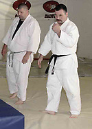Tim Knepp, from Piqua (left) and Vince Ashcraft, from Piqua during a judo class in the Miami County YMCA, Thursday, May 31st.