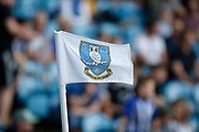 A Sheffield Wednesday corner flag during the EFL Sky Bet Championship match between Sheffield Wednesday and Bristol City at Hillsborough, Sheffield, England on 22 April 2019.