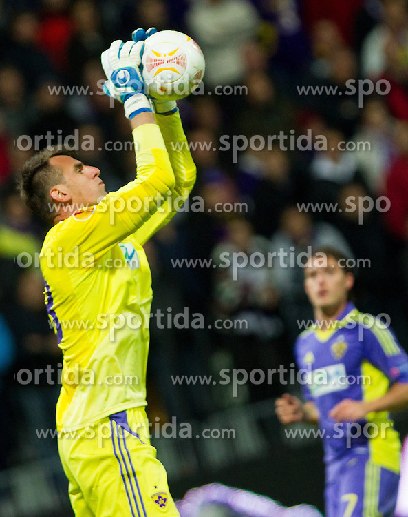 Jasmin Handanovic of NK Maribor during football match between NK Maribor and Panathinaikos Athens F.C. (GRE) in 1st Round of Group Stage of UEFA Europa league 2013, on September 20, 2012 in Stadium Ljudski vrt, Maribor, Slovenia. Maribor defeated Panathinaikos 3-0. (Photo By Vid Ponikvar / Sportida)
