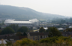General view of Liberty stadium from Trewyddfa road. - Mandatory byline: Alex James/JMP - 07966 386802 - 04/10/2015 - FOOTBALL - Liberty stadium - Swansea, England - Swansea City  v Tottenham hotspur - Barclays Premier League