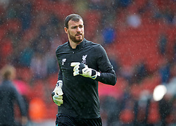 SHEFFIELD, ENGLAND - Thursday, September 26, 2019: Liverpool's goalkeeper Andy Lonergan during the pre-match warm-up before the FA Premier League match between Sheffield United FC and Liverpool FC at Bramall Lane. (Pic by David Rawcliffe/Propaganda)