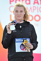21/07/2017 : Noelle Lenihan (IRL), F38, Silver Medal, Women's Discus, at the 2017 World Para Athletics Championships, Olympic Stadium, London, United Kingdom