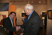 Michael  Rogatchi and Sir John Hanson, The Real Dream, private view for an exhibition of work by Michael Rogatchi. Cork St. London.  5 December 2006. ONE TIME USE ONLY - DO NOT ARCHIVE  © Copyright Photograph by Dafydd Jones 248 CLAPHAM PARK RD. LONDON SW90PZ.  Tel 020 7733 0108 www.dafjones.com