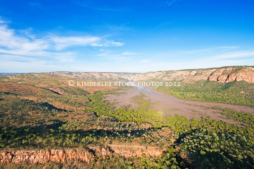 Aerial view of Cyclone Creek in Talbot Bay on the Kimberley coast.