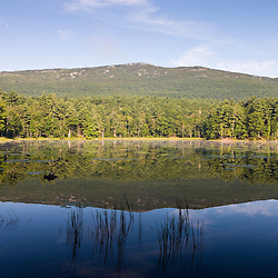Mount Monadnock as seen from Gilson Pond in New Hampshire's Monadnock State Park.