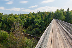 Monticello Trestle. The International Appalachian Trail follows this multi-use rail trail in Monticello, Maine.