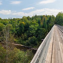 Monticello Trestle. The International Appalachian Trail follows this multi-use rail trail in Monticello, Maine.