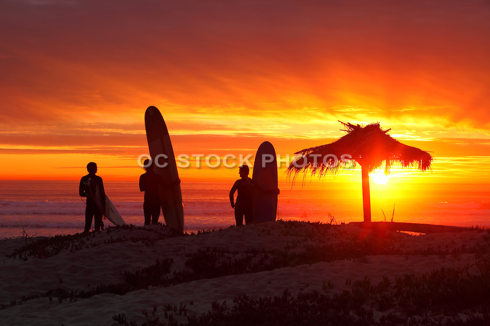 Surfing San Onofre At Sunset