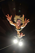 Tumble Circus. Production shot London Wonderground Southbank. Poster image Edinburgh Festival Underbelly.