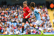 Manchester United Women midfielder Hayley Ladd (12) during the FA Women's Super League match between Manchester City Women and Manchester United Women at the Sport City Academy Stadium, Manchester, United Kingdom on 7 September 2019.